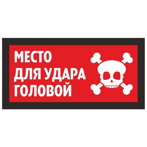 """Информационная табличка """"Место для удара головой №2"""" 200x100 мм из пластика 3 мм"""