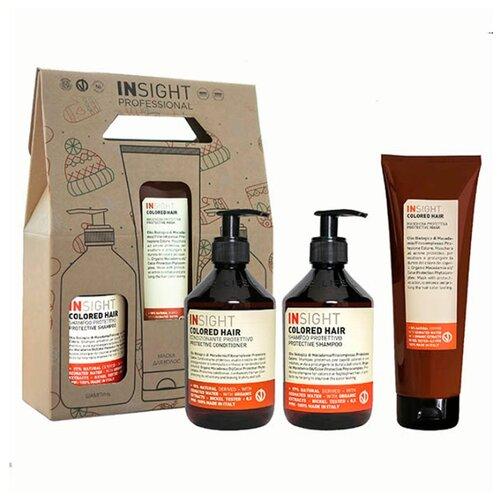 Фото - Insight Colored Hair - Набор для окрашенных волос (шампунь 400 мл + кондиционер 400 мл + маска 250 мл) insight кондиционер colored hair защитный для окрашенных волос 400 мл