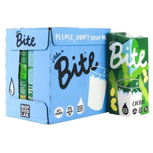 Соевый напиток Bite пастеризованный 1.8%, 1 л, 6 шт.
