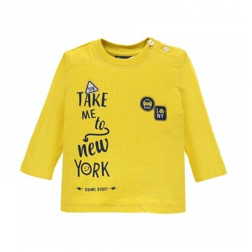 Купить Лонгслив Brums размер 9М (74), желтый, Футболки и рубашки