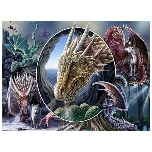 Купить Пазл Super 3D Коллаж Драконы 500 детал. Prime 3D 32563, Пазлы