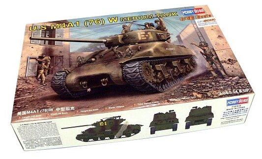 Сборная модель HobbyBoss U.S M4A1 76(W) tank (84801) 1:48