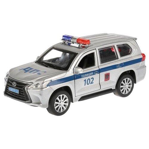 Фото - Внедорожник ТЕХНОПАРК Lexus LX-570 Полиция (LX570-P) 12 см серый внедорожник hoffmann lexus lx570 102779 1 32 18 см черный
