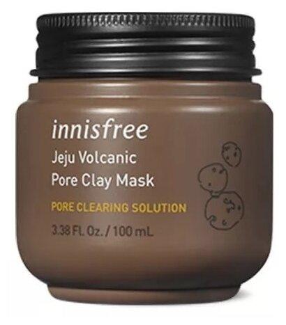 Innisfree очищающая маска Jeju Volcanic Pore Clay с вулканическим пеплом