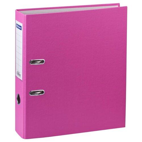 Купить OfficeSpace Папка-регистратор с карманом на корешке A4+, бумвинил, 70 мм розовый, Файлы и папки