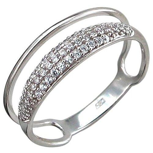 Эстет Кольцо с 41 фианитом из серебра 01К1510765, размер 16.5 ЭСТЕТ