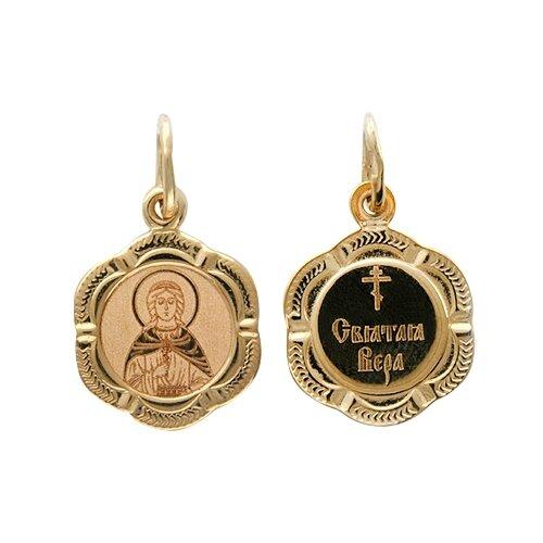 Фото - Эстет Подвеска-иконка Святая Вера из красного золота 01П011256 подвеска иконка святая фотина из красного золота