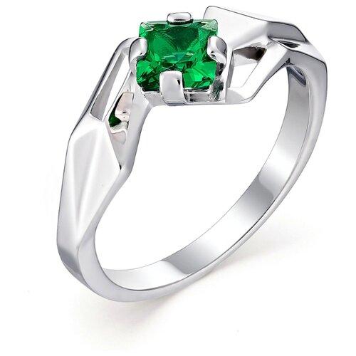 АЛЬКОР Кольцо с 1 изумрудом из серебра 01-0577-00НИ-00, размер 18 алькор кольцо с 1 изумрудом из серебра 01 0577 00ни 00 размер 18