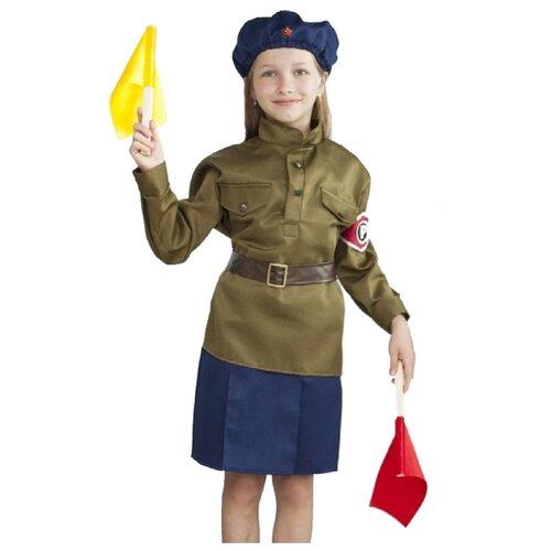 Купить Костюм Бока Регулировщица, хаки, размер 122-134, Карнавальные костюмы