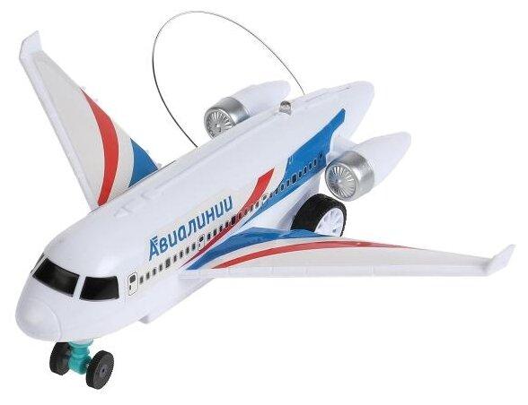 Самолет Технодрайв ZY905632-R 25 см белый фото 1