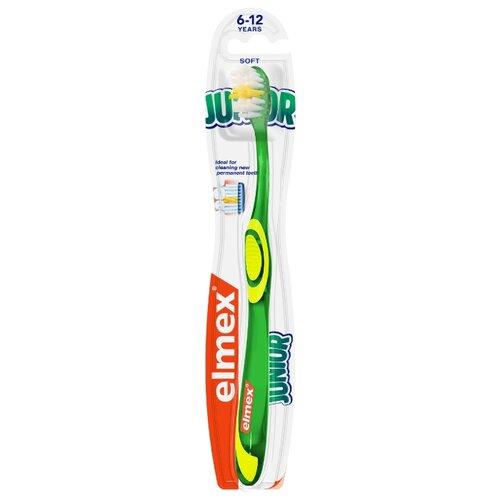 Купить Зубная щетка Elmex Юниор от 6 до 12 лет, зеленый, Гигиена полости рта