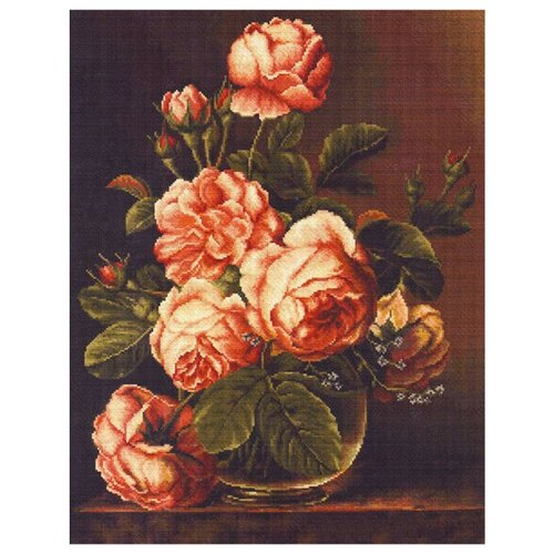 Фото - Luca-S Набор для вышивания Розы в вазе, 34 х 43 см, B488 luca s набор для вышивания щенок 8 х 10 см b088