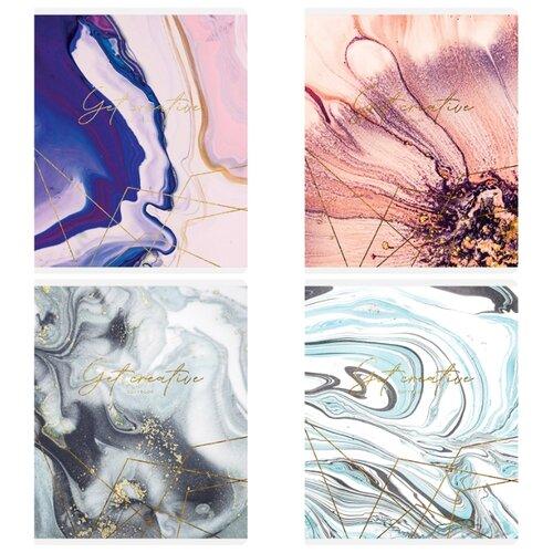 Купить Greenwich Line Упаковка тетрадей Vivid marble N5c48-26488, 5 шт./4 дизайна, клетка, 48 л., Тетради