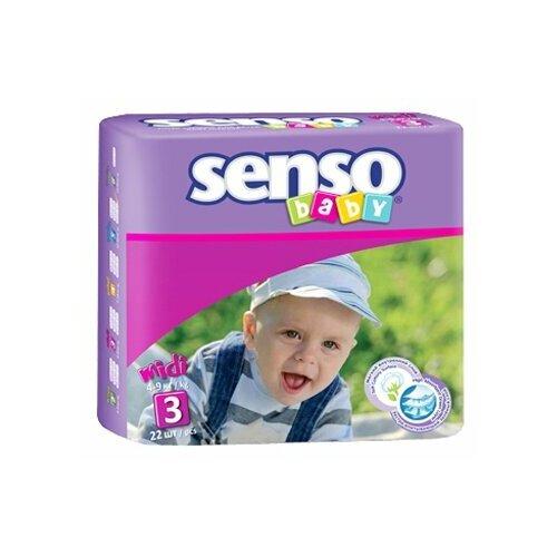 Senso baby подгузники 3 (4-9 кг), 22 шт.
