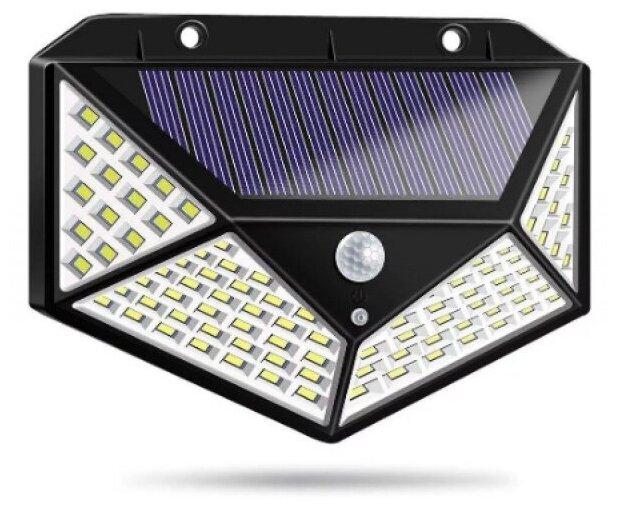 Купить Фонарь на солнечной батарее уличный, настенный. 100 светодиодов по низкой цене с доставкой из Яндекс.Маркета