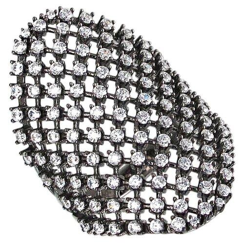 Эстет Кольцо с фианитами из чернёного серебра 01К159213Ч, размер 16.5 ЭСТЕТ