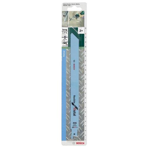 Фото - Пильное полотно для сабельной пилы BOSCH S1122BF 2 шт. полотно для пилы bahco 3906 300 18 2p 2 шт