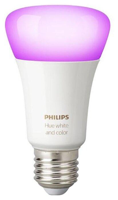 Лампа светодиодная Philips Hue White and Color, E27, A60, 9Вт фото 1
