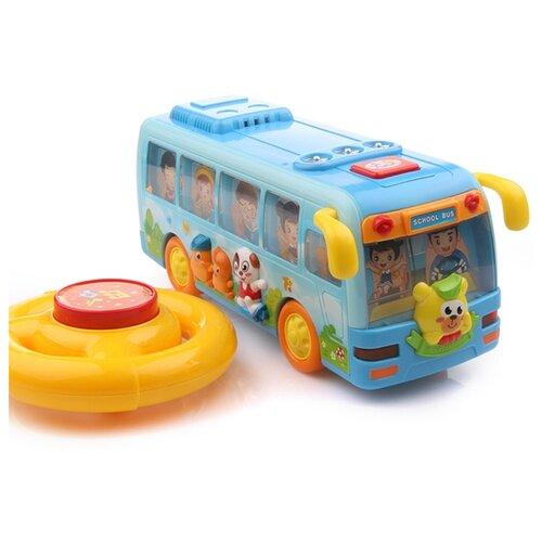 Интерактивная развивающая игрушка Play Smart Расти, малыш. Танцующий школьный автобус, голубой
