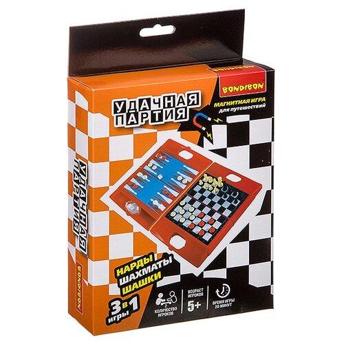 Набор настольных игр BONDIBON Шахматы, шашки, нарды ВВ3482 набор настольных игр haleyan шахматы нарды резные c араратом 40 с ручкой