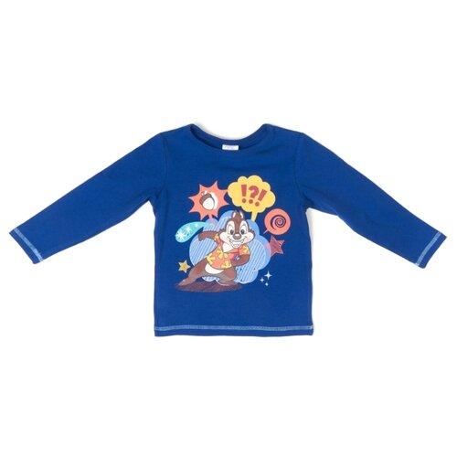 Купить Лонгслив playToday размер 122, синий, Футболки и майки