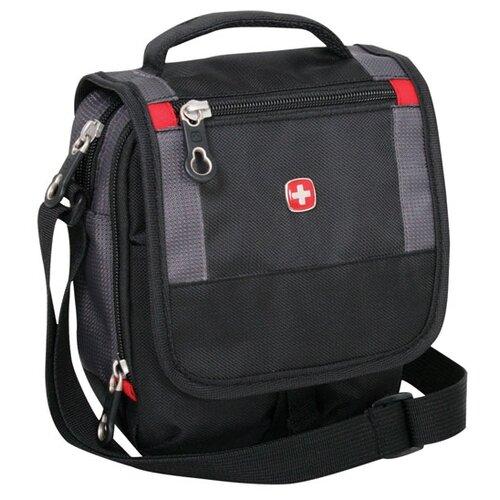 сумка планшет wenger swissgear sa18262166 22x9x29см 0 36кг полиэстер черный Сумка планшет WENGER, текстиль, черный/серый
