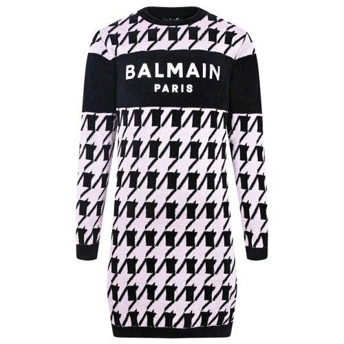Купить Платье Balmain размер 164, черный/гусиная лапка/розовый, Платья и сарафаны