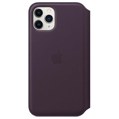 Купить Чехол Apple Folio кожаный для Apple iPhone 11 Pro спелый баклажан