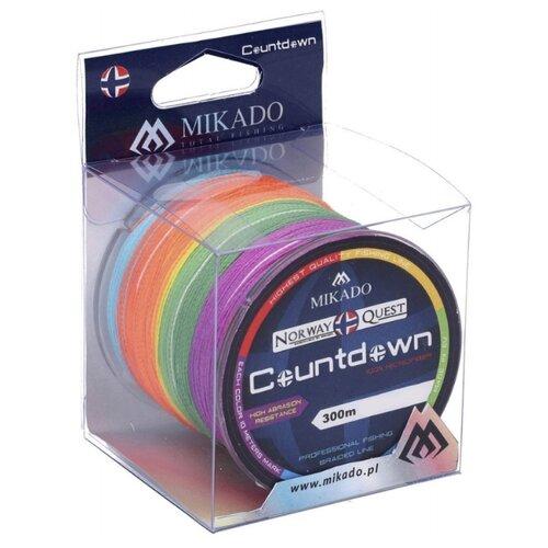 Плетеный шнур MIKADO Norway Quest Countdown multicolor 0.45 мм 300 м 37.5 кг