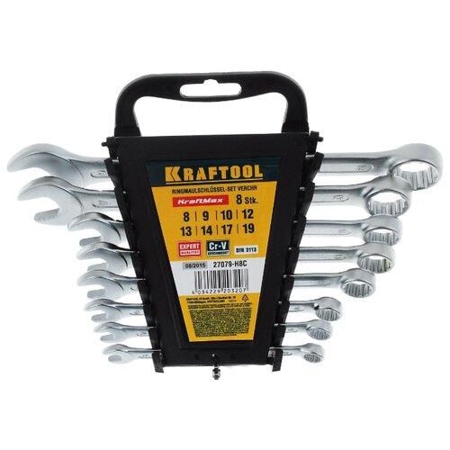Набор гаечных ключей Kraftool (8 предм.) 27079-H8C серебристый набор гаечных ключей kroft 8 предм 210108 серебристый