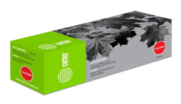 Картридж cactus CS-C045HBK, совместимый — купить по выгодной цене на Яндекс.Маркете