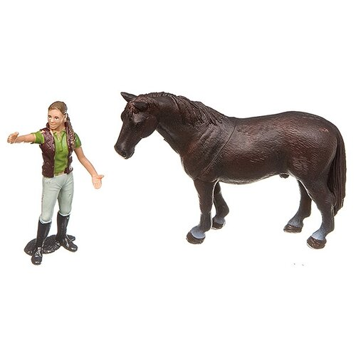 Купить Игровой набор Yako Мир вокруг нас: Лошадь и наездница M7593-8, Игровые наборы и фигурки
