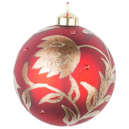 Набор шаров KARLSBACH 08596, красный с золотым узором