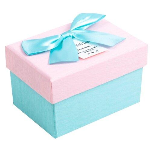 Коробка подарочная Yiwu Youda Import and Export с бантом 10 х 6.5 х 7.5 см голубой/розовый