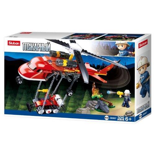 Конструктор SLUBAN Пожарный M38-B0807 Пожарный вертолет конструктор sluban пожарный m38 b0226
