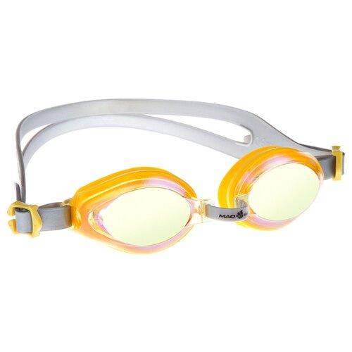 Очки для плавания MAD WAVE Aqua Rainbow yellow очки для плавания mad wave aqua pink white
