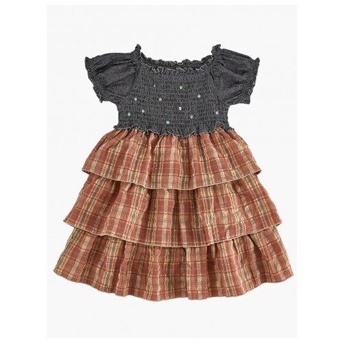 Купить Платье Mini Maxi размер 110, серый/коралловый, Платья и сарафаны