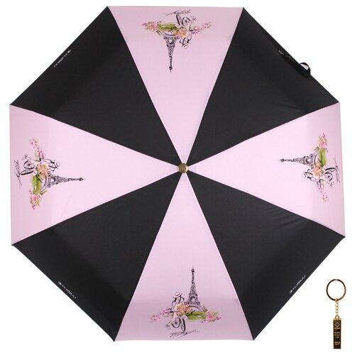 Зонт автомат FLIORAJ Premium Золотой брелок Франция розовый зонт автомат flioraj premium золотой брелок кошки черный