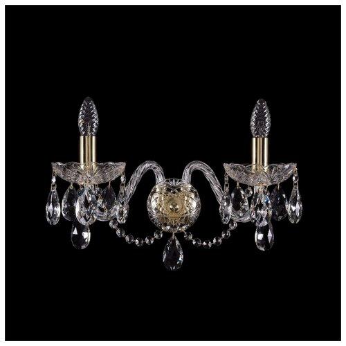 цена на Настенный светильник Bohemia Ivele Crystal 1400/2/165/XL/G, 80 Вт