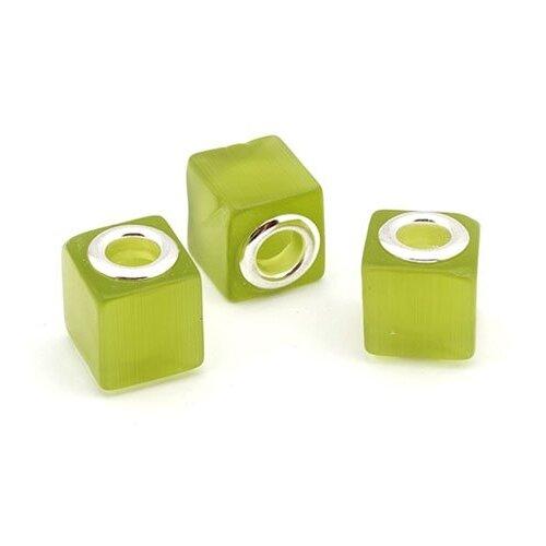 Бусины керамические Tesoro, зеленый, 10 штук