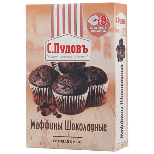 цена на С.Пудовъ Мучная смесь Маффины шоколадные, 0.23 кг