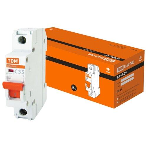 Автоматический выключатель TDM ЕLECTRIC ВА 47-29 1P (C) 4,5kA 32 А рубильник tdm еlectric вн 32 2p 40 а