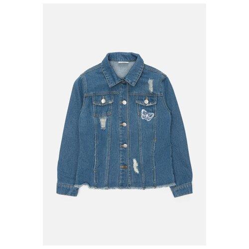 верхняя одежда acoola куртка детская для девочек цвет темно синий размер 98 20220130132 Куртка Acoola 20220130124 размер 98, синий