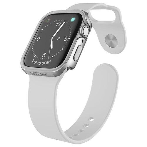 Чехол X-Doria Defense Edge для Apple Watch 44 мм silver