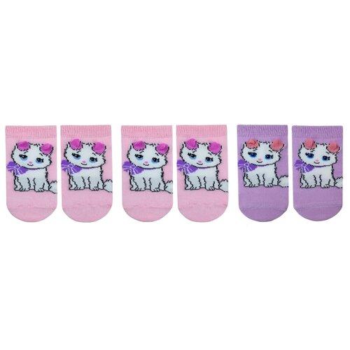 Купить Носки НАШЕ комплект 3 пары размер 18 (16-18), розовая дымка/фуксия