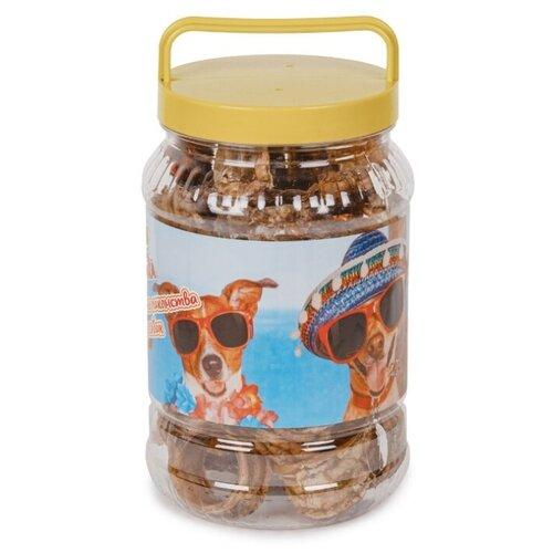 Лакомство для собак ВАВАКА Трахея говяжья кольца, 300 г трахея titbit говяжья резаная в мягкой упаковке для собак 61 г