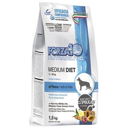 Сухой корм для собак Forza10 рыба 1.5 кг (для средних пород)