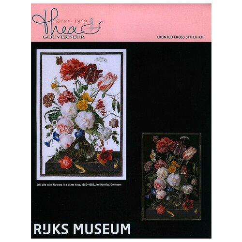 Thea Gouverneur Набор для вышивания Цветы в стеклянной вазе 72 х 49 см (785.05) набор для вышивания thea gouverneur 0753a набор для вышивания