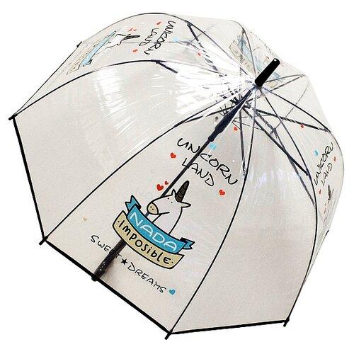 Фото - Зонт-трость полуавтомат Эврика Единорог черный зонт трость полуавтомат три слона 1100 бордовый