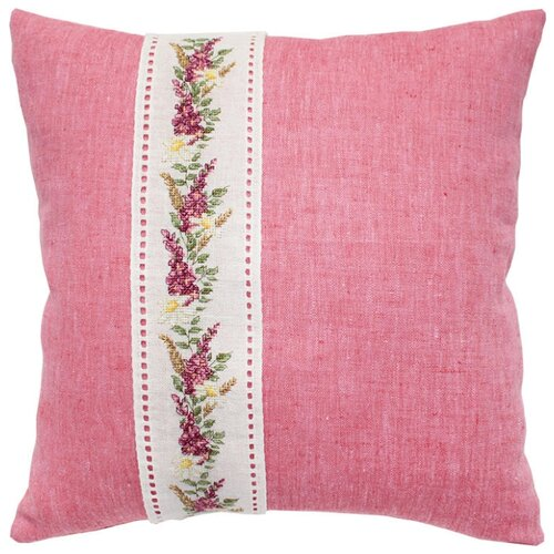 Набор для вышивания, подушка Цветочная гирлянда на канвовой ленте, Luca-S LUCA-S PB124